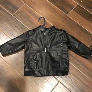 18M Kenneth Cole Reaction faux leather baby jacket